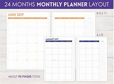 24 Month Planner Monthly Planner 24 Month Planner Personalized Monthly