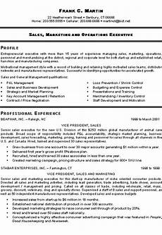 Sample Resume For Marketing Executive Position Marketing Sales Executive Executive Resume Sales Resume