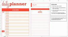 Free Schedule Planner Basic Daily Planner Excel Template Savvy Spreadsheets