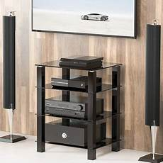 fitueyes av shelf media component stand audio cabinet with