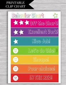 Behavior Clip Chart Template Behavior Chart Clothespin Printable Download