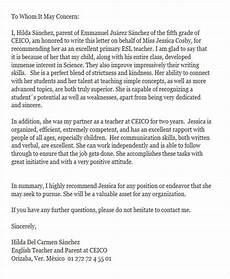 Parent Letter Of Recommendation Free 6 Reference Letter For Teachers In Ms Word Pdf