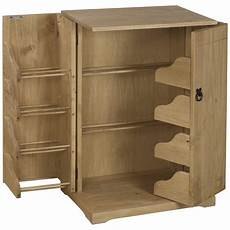 solid pine cd dvd media storage cupboard cabinet rack unit