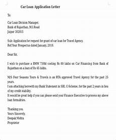 Letter Of Intent For Loan Application 17 Sample Loan Application Letters Pdf Doc Free