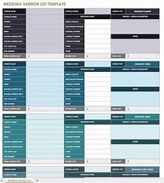 Wedding Vendor Checklist Template 21 Free Event Planning Templates Smartsheet