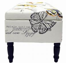 butterfly storage ottoman stool blanket box padded