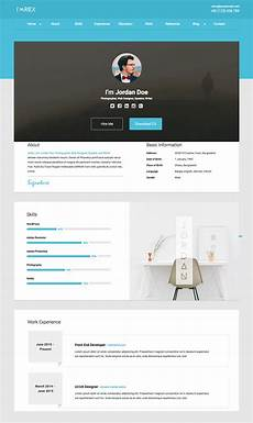 Resume Format Website 18 Best Html Resume Templates For Awesome Personal