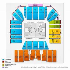 Reeves Athletic Complex Seating Chart Scheels Center At Sanford Health Athletic Complex Seating