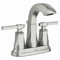 Home Depot Kitchen Sink Faucets Moen Ayda 4 In Centerset 2 Handle Bathroom Faucet In Spot