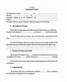 Employee Agreement Form Free 31 Contract Agreement Sample Forms In Pdf Ms Word