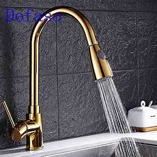 Kitchen Faucet Aliexpress Buy Dofaso Gold Kitchen Faucet Pull Out