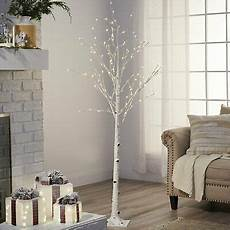 6 Ft Lighted Twig Tree 6 Ft White Twig Christmas Tree Pre Lighted Artificial