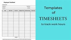 Working Hours Sheet Template 10 Best Timesheet Templates To Track Work Hours