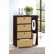 furinno multipurpose storage cabinet w 4 bin type drawers