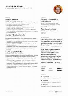 Creative Resume Marketing Creative Marketer Resume Examples Skills Templates