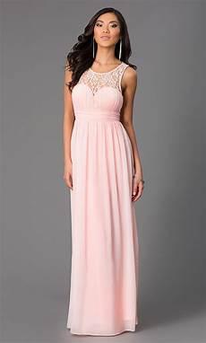 sleeveless floor length chiffon prom dress promgirl