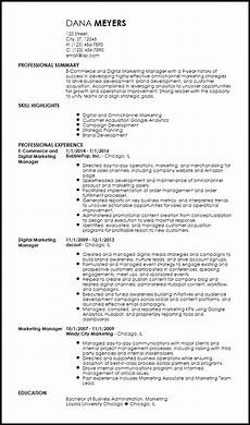 Internet Marketing Resumes Free Contemporary Marketing Resume Templates Resume Now