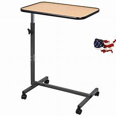 us overbed laptop food tray table rolling desk hospital