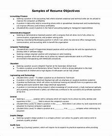 Simple Resume Objective Free 9 Simple Resume Examples In Ms Word Pdf