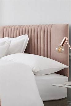 next bernie headboard soft velvet blush bed headboard