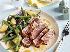Maple and Mustard Seared Tuna Steaks Recipe   MyRecipes