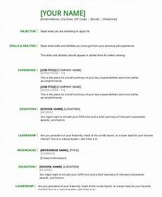 Resume Templates Pdf Download Resume In Word Template 24 Free Word Pdf Documents