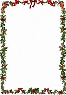 Free Christmas Borders Seasons Greetings For More Printable A4 Borders For More