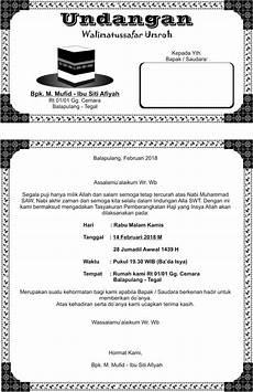 undangan tasyakur khitan undangan walimatussafar umroh mufid