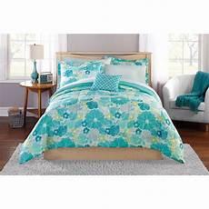 mainstays blue floral bedding in a bag bedding walmart