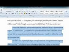 How To Quote A Website Apa Long Quotes In Word 2010 Youtube