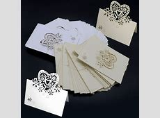 50X Table Place Name Settings Meal Cards for Xmas Party