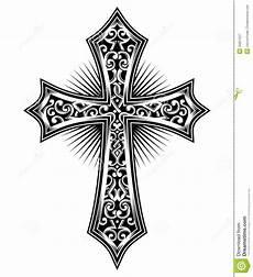 Cross Symbol Design Cross Stock Vector Illustration Of Black Christ