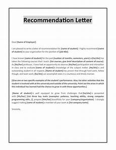Recommendation Letter Sample 43 Free Letter Of Recommendation Templates Amp Samples