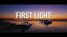 First Light Nz First Light New Zealand At Sunrise Sumner Beach Youtube