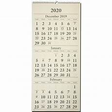 3 Month Calendar 2020 2020 At A Glance Sw115 28 3 Month Wall Calendar 12 X 27