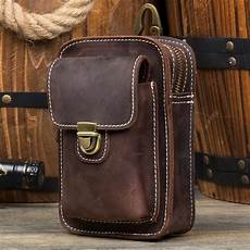 Designer Pouch Bag Mens Leather Belt Pouch Mens Small Cases Waist Small Bag For
