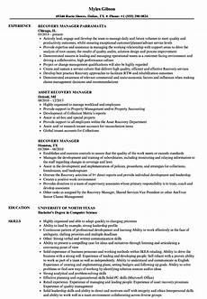 Collection Manager Resume Recovery Manager Resume Samples Velvet Jobs