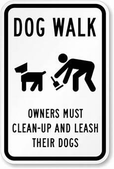 Dog Walking Sign Dog Walk Signs From 8