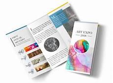 Art Gallery Brochure Design Art Show Tri Fold Brochure Template Mycreativeshop