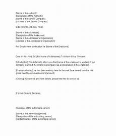 Proof Of Employment Templates 40 Proof Of Employment Letters Verification Forms