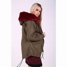 womens fur coats winter womens faux fur lined khaki winter parka jacket