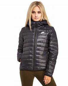 womens nike jackets and coats nike synthetic fill jacket in black lyst
