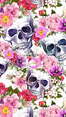 floral skull iphone wallpaper pin by pdawg on skulls skull wallpaper skull skull