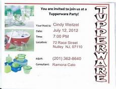 Tupperware Party Invitations Tupperware Party Band