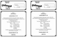 surat undangan walimatul ursy f4 dibagi 2 indoamaterasu