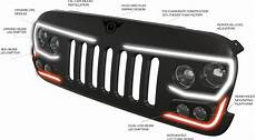 Jeep Grill With Lights Oracle Lighting Vector Grill For 07 18 Jeep Wrangler Jk