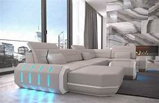 Couch Led Lights Sectional Sofa Leather Roma U Shape Big Corner Sofa Couch