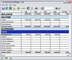 Personal Home Budget Software The Symphony Of Life Personal Budget Software