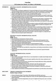 Sample Analyst Resumes Financial Analyst Resume Sample Ipasphoto