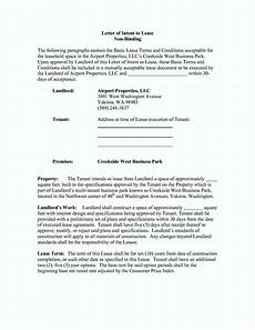 Non Binding Letter Of Intent Free Non Binding Letter Of Intent Template Template